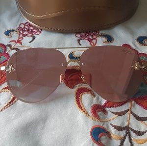 Bee Pink Gold Sunglasses
